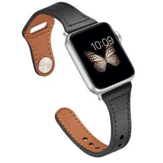 ピンバックル レザー Lite スリム Apple Watch 38/40mm BK-SV