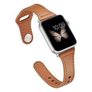 ピンバックル レザー Lite スリム Apple Watch 38/40mm ブラウン