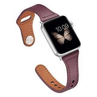 ピンバックル レザー Lite スリム Apple Watch 38/40mm ワインレッド