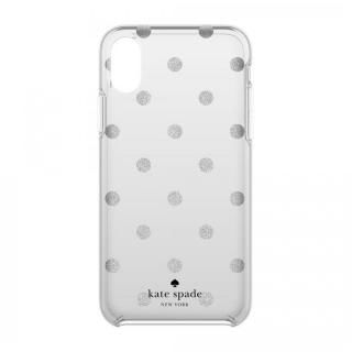 kate spade new york ハードケース Glitter Dot -Miles Gray iPhone X