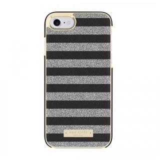 kate spade new york サフィアーノレザーケース ストライプ ブラック iPhone 8/7