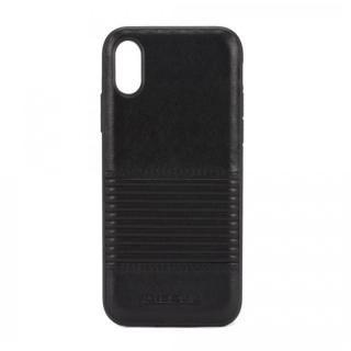 DIESEL レザーカバーケース ブラックライン iPhone X