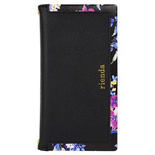 iPhone XR ケース rienda スクエア ブラー手帳型ケース ブラック iPhone XR