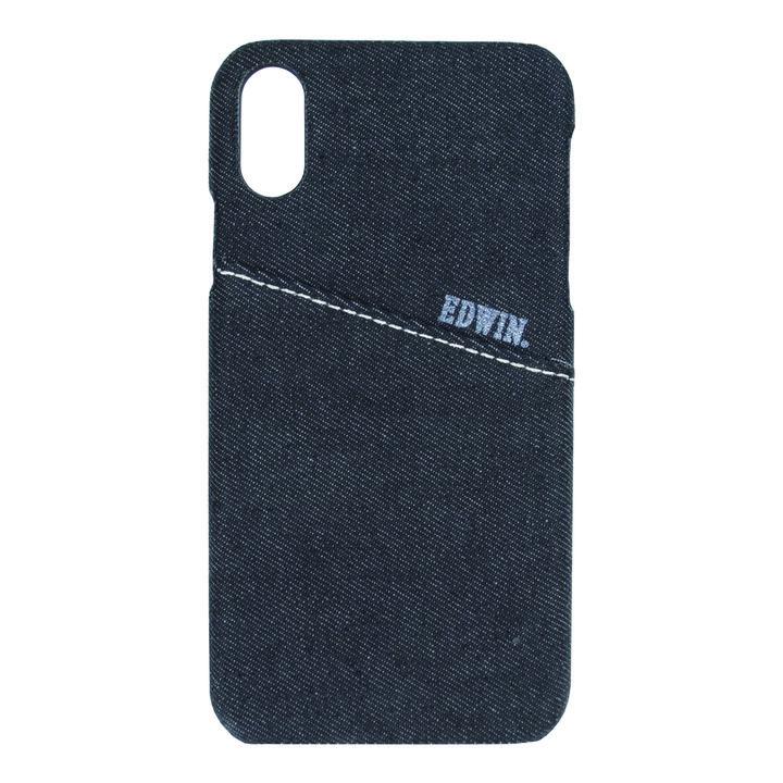 iPhone XR ケース EDWIN 背面ケース ALLデニム ブラック iPhone XR_0