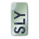 SLY ウォーターミラー 背面ケース LOGO/グレイ iPhone XR【2月下旬】