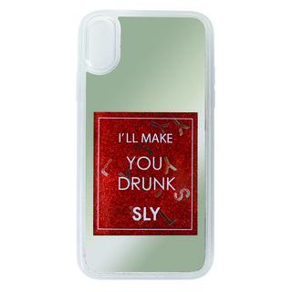 iPhone XR ケース SLY ウォーターミラー 背面ケース 香水/レッド iPhone XR