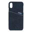 EDWIN 背面ケース ALLデニム ブラック iPhone XR