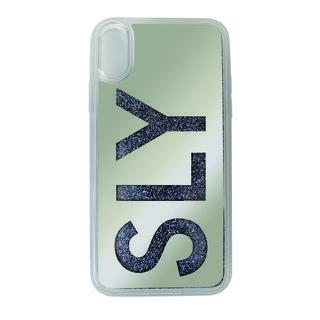 iPhone XR ケース SLY ウォーターミラー 背面ケース LOGO/グレイ iPhone XR