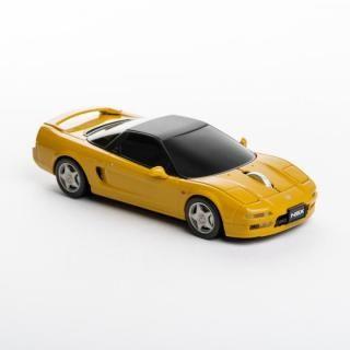 [Cassette]自動車型ワイヤレスマウス HONDA NSX YELLOW【9月下旬】