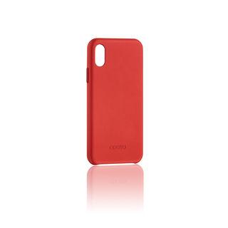 【iPhone XSケース】ODOYO スナップエッジ 背面ケース バーガンディレッド iPhone XS【9月下旬】