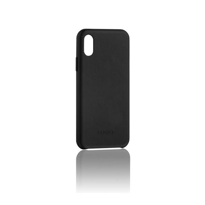 iPhone XS Max ケース ODOYO スナップエッジ 背面ケース セサミブラック iPhone XS Max_0