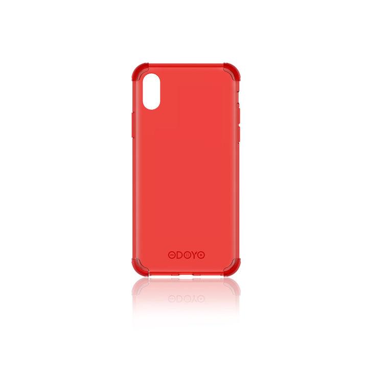 iPhone XR ケース ODOYO ソフトエッジ 背面ケース  バーガンディレッド iPhone XR_0