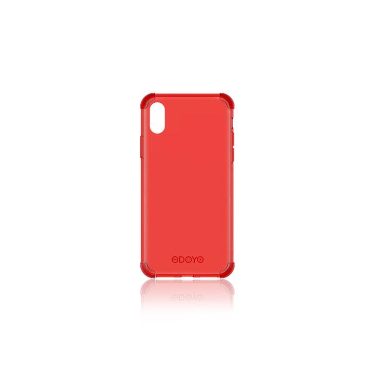 iPhone XS ケース ODOYO ソフトエッジ 背面ケース  バーガンディレッド iPhone XS_0
