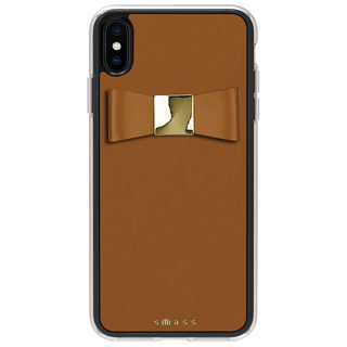 Athand Rebon 本革 デザインケース タン iPhone XS Max