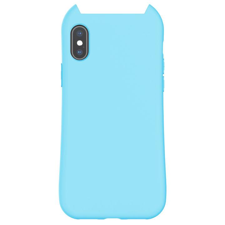 iPhone XS/X ケース HANA MACAROON 猫耳デザインケース ブルー iPhone XS/X_0