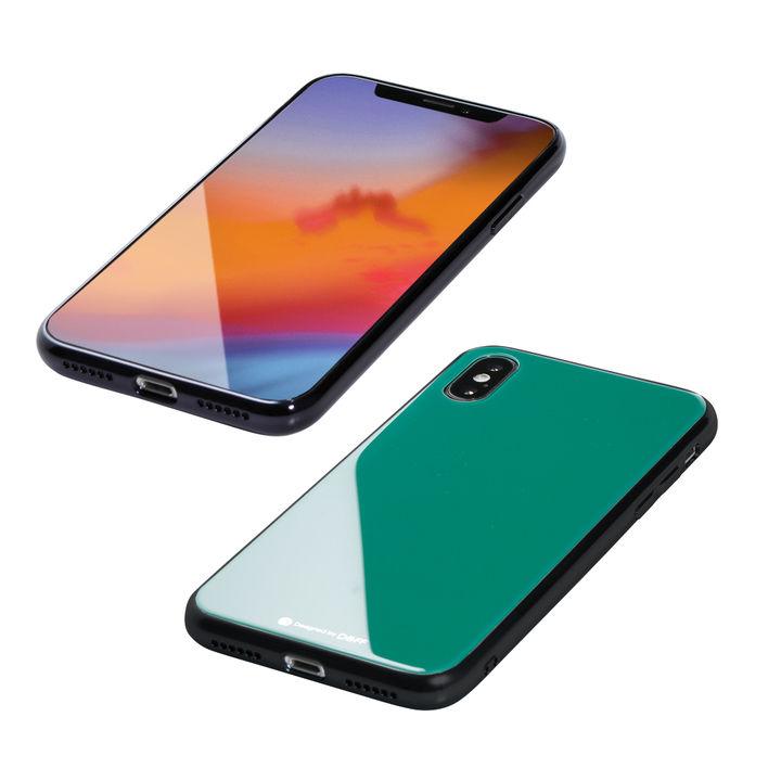 【iPhone XS/Xケース】Deff Hybrid Case Etanze エメラルドグリーン iPhone XS/X_0
