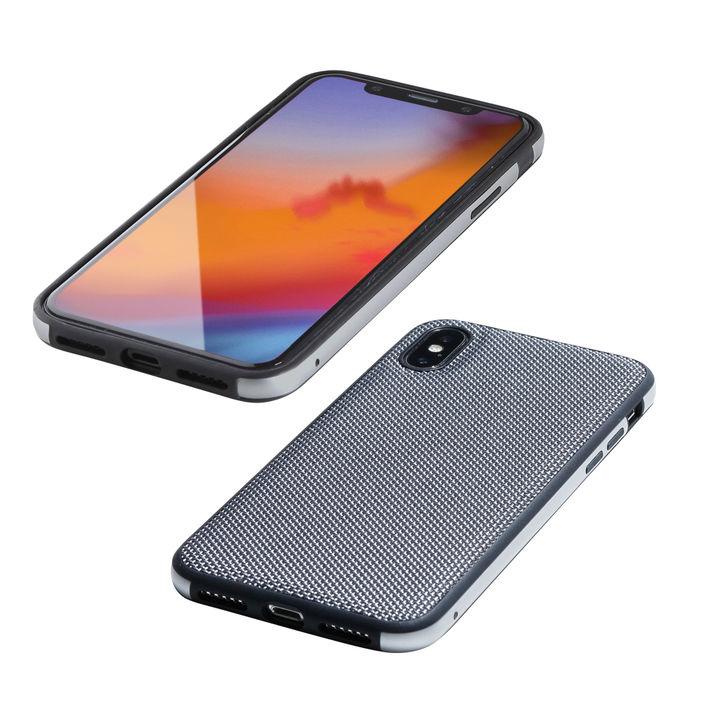iPhone XS/X ケース Deff Hybrid Case Etanze ナイロンシルバー iPhone XS/X_0