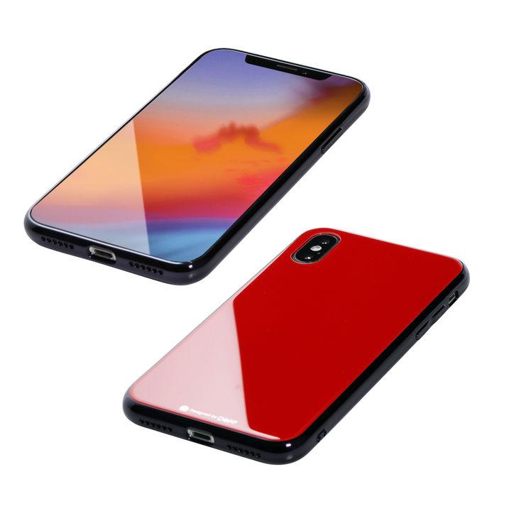 iPhone XS/X ケース Deff Hybrid Case Etanze レッド iPhone XS/X_0