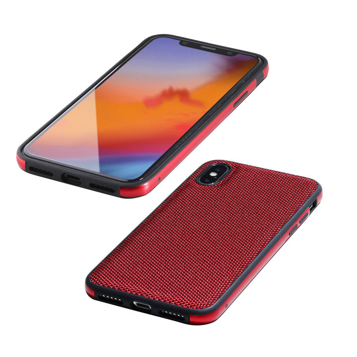 【iPhone XS/Xケース】Deff Hybrid Case Etanze ナイロンレッド iPhone XS/X_0