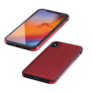iPhone XS/X ケース Deff Hybrid Case Etanze ナイロンレッド iPhone XS/X