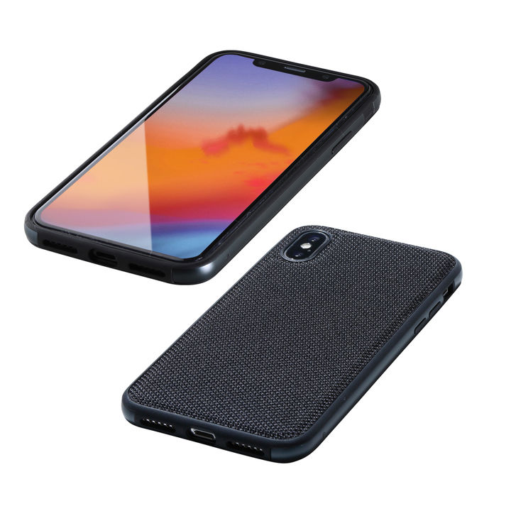 iPhone XS/X ケース Deff Hybrid Case Etanze ナイロンブラック iPhone XS/X_0