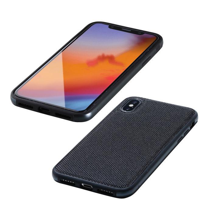 【iPhone XS/Xケース】Deff Hybrid Case Etanze ナイロンブラック iPhone XS/X_0