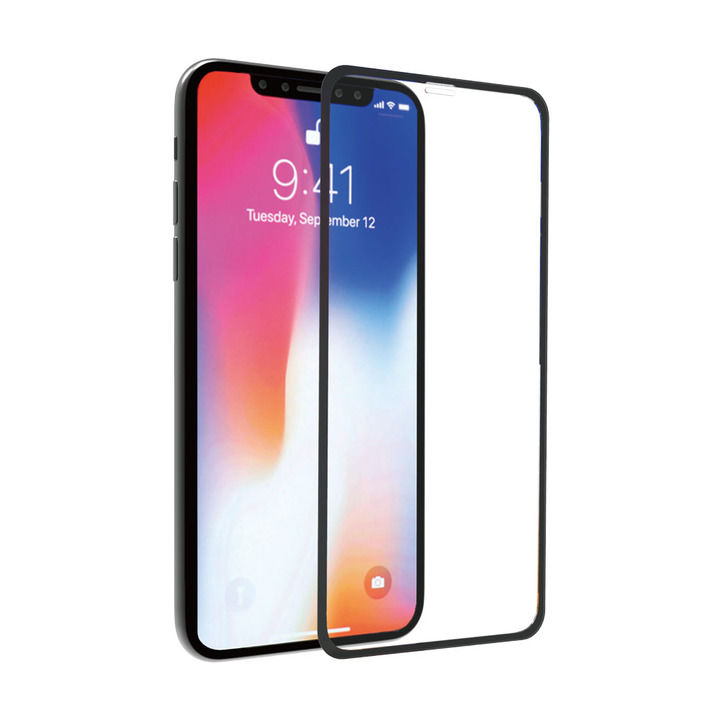 iPhone XS/X フィルム ABSOLUTE 3Dタイプ PERFECT ENCLOSURE 0.2mm 2倍強化ガラス iPhone XS/X_0