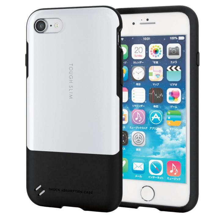 iPhone7 ケース 耐衝撃/薄軽ケース TOUGH SLIM ホワイト iPhone 7_0
