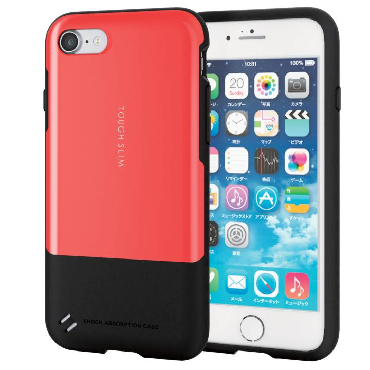 iPhone7 ケース 耐衝撃/薄軽ケース TOUGH SLIM レッド iPhone 7_0