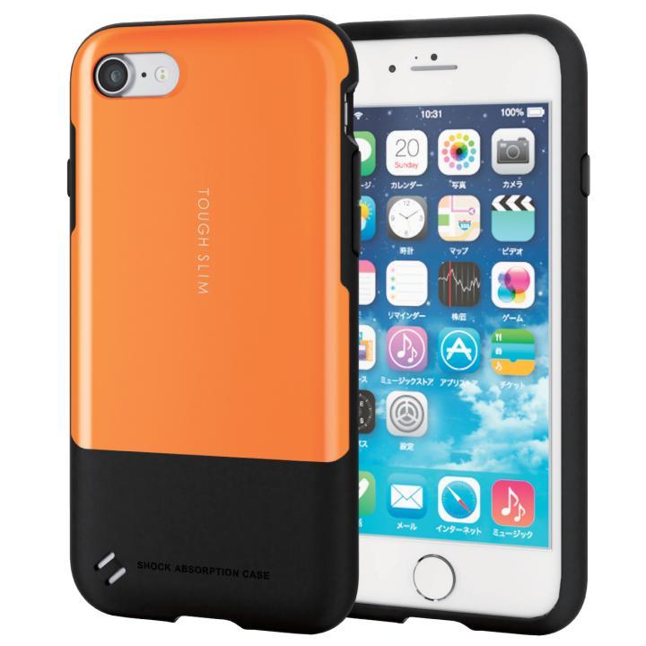 iPhone7 ケース 耐衝撃/薄軽ケース TOUGH SLIM オレンジ iPhone 7_0