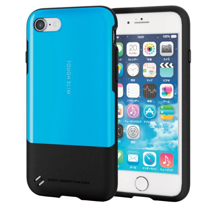 iPhone7 ケース 耐衝撃/薄軽ケース TOUGH SLIM ブルー iPhone 7_0
