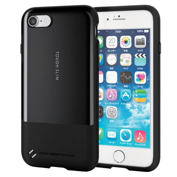 iPhone7 ケース 耐衝撃/薄軽ケース TOUGH SLIM ブラック iPhone 7_0