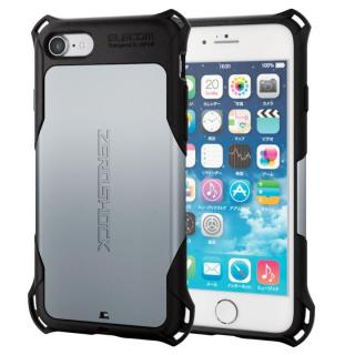 iPhone7 ケース 耐衝撃ケース ZEROSHOCK シルバー iPhone 7