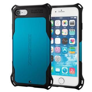 耐衝撃ケース ZEROSHOCK ブルー iPhone 7