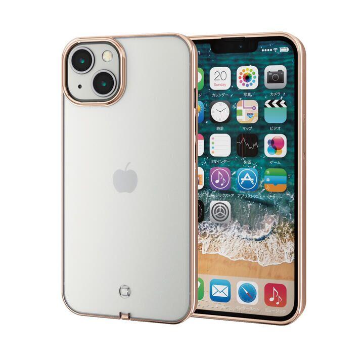 ソフトケース 極み サイドメッキ ゴールド iPhone 13_0