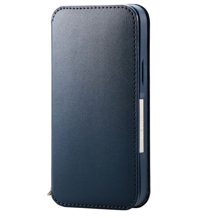 レザーケース 手帳型 NEUTZ 磁石付き ネイビー iPhone 13 mini_0