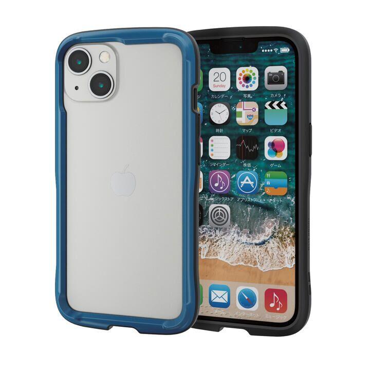 ハイブリッドバンパーケース TOUGH SLIM LITE ネイビー iPhone 13_0