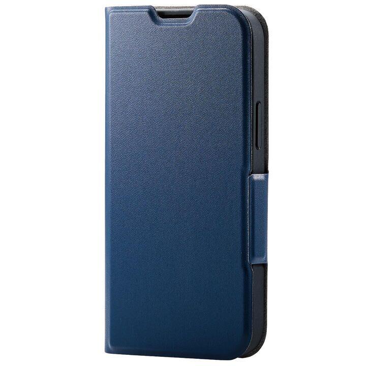 レザーケース 手帳型 UltraSlim 薄型 磁石付き ネイビー iPhone 13 mini_0