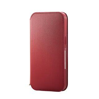 iPhone 13 ケース レザーケース 手帳型 NEUTZ 磁石付き レッド iPhone 13