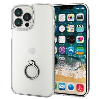 iPhone 13 Pro Max (6.7インチ) ケース ハイブリッドケース リング付き シルバー iPhone 13 Pro Max