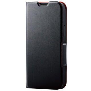 iPhone 13 mini (5.4インチ) ケース レザーケース 手帳型 UltraSlim 薄型 磁石付き ブラック iPhone 13 mini