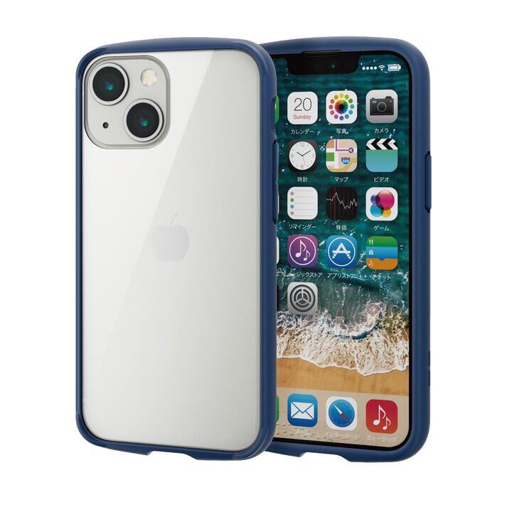 ハイブリッドケース TOUGH SLIM LITE フレームカラー 背面ガラス ネイビー iPhone 13 mini_0