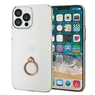 iPhone 13 Pro Max (6.7インチ) ケース ハードケース リング付き ゴールド iPhone 13 Pro Max