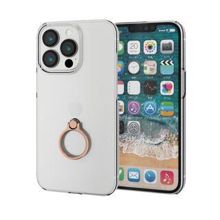 iPhone 13 Pro ケース ハードケース リング付き ゴールド iPhone 13 Pro