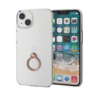 iPhone 13 ケース ハードケース リング付き ゴールド iPhone 13