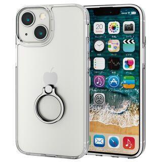 iPhone 13 mini (5.4インチ) ケース ハイブリッドケース リング付き シルバー iPhone 13 mini
