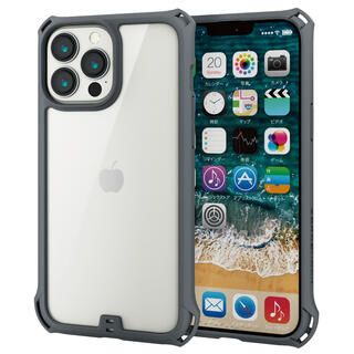 iPhone 13 Pro Max (6.7インチ) ケース ハイブリッドケース ZEROSHOCK フレームカラー グレー iPhone 13 Pro Max