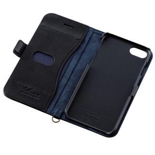 【iPhone7ケース】ソフトレザー手帳型ケース vluno マグネットタイプ ブラック iPhone 7_1