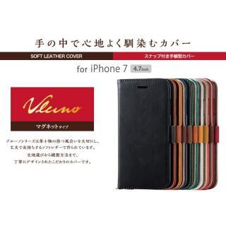 【iPhone7ケース】ソフトレザー手帳型ケース vluno マグネットタイプ ブラック iPhone 7_2