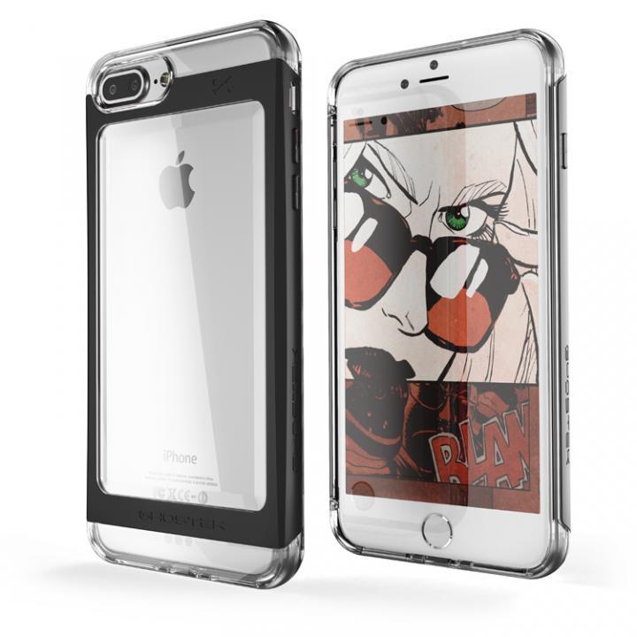 iPhone7 Plus ケース 衝撃吸収アルミバンパー+クリアTPUケース Cloak 2 ブラック iPhone 7 Plus_0